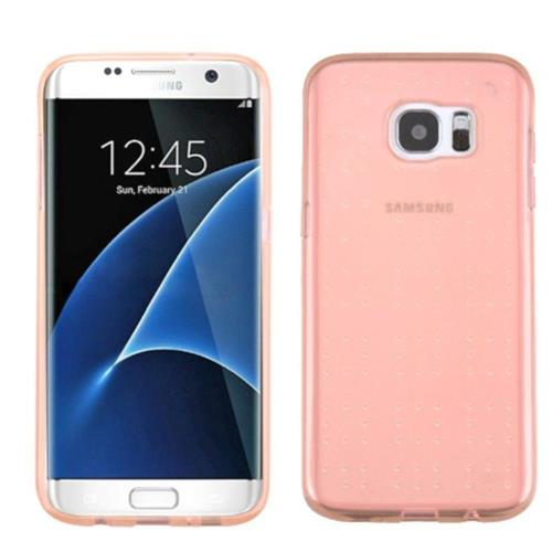 Insten Rubber Case For Samsung Galaxy S7 Edge - Rose Gold
