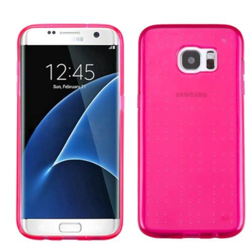 Insten Gel Cover Case For Samsung Galaxy S7 Edge - Hot Pink