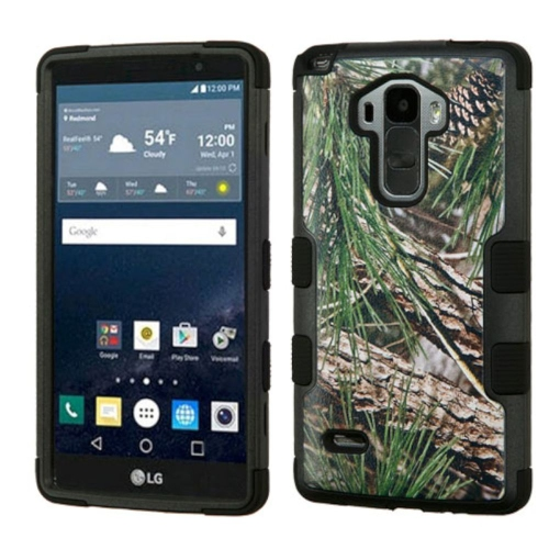 Insten Pine Tree Hard Dual Layer Rubber Silicone Case For LG G Stylo LS770/G Vista 2, Green/Black