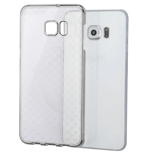 Insten Hard Crystal Case For Samsung Galaxy S6 Edge Plus - Clear/Silver