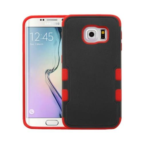 Insten Tuff Merge Hard Cover Case For Samsung Galaxy S6 Edge - Black/Red