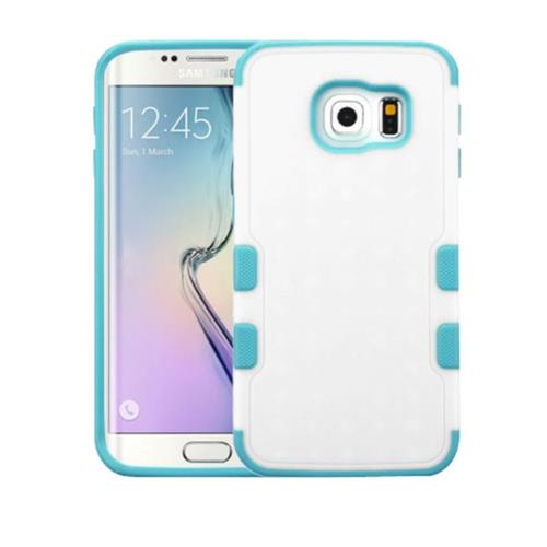 Insten Tuff Merge Hard Cover Case For Samsung Galaxy S6 Edge - White/Blue