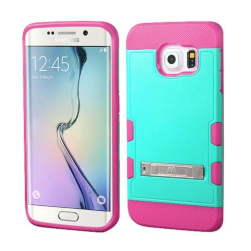 Insten Fitted Soft Shell Case for Samsung Galaxy S6 Edge - Hot Pink;Teal