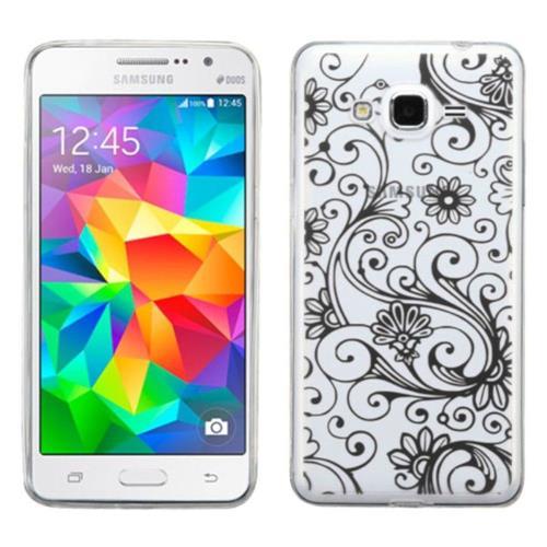 Insten Four-leaf Clover Gel Case For Samsung Galaxy Grand Prime - Black