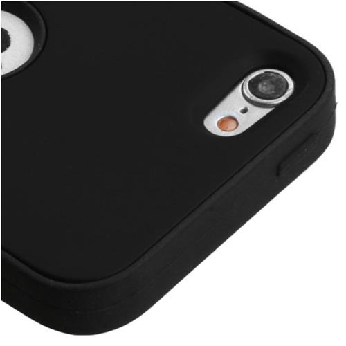 Insten Verge Hard Dual Layer Rubber Silicone Case For Apple iPod Touch 5th Gen/6th Gen - Black