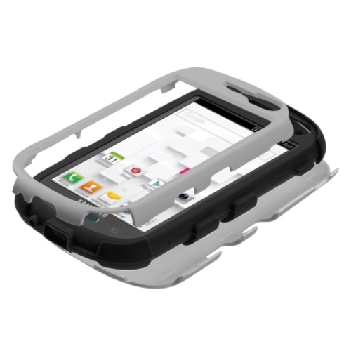 Insten Tuff Hard Dual Layer Silicone Cover Case For Samsung Galaxy Exhibit T599 - Gray/Black