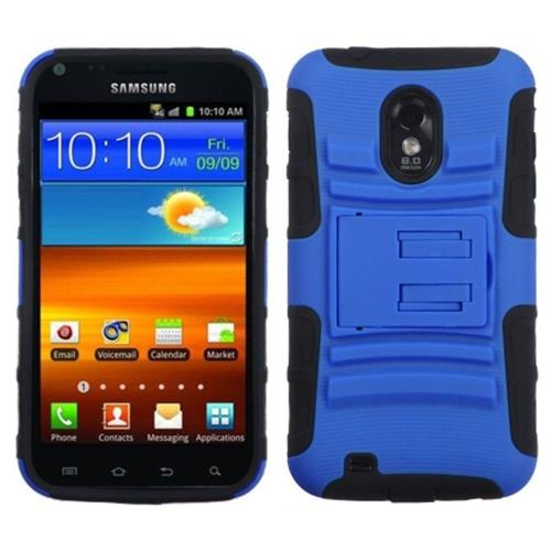Insten Advanced Armor Hard Cover Case For Samsung Galaxy S2 Epic 4G Touch D710 - Dark Blue