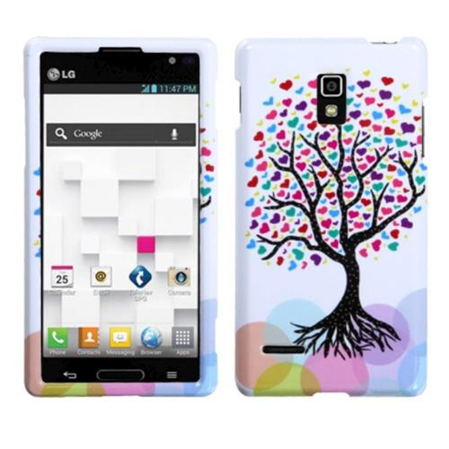 Insten Love Tree Hard Plastic Case For LG Optimus L9 P769 - Colorful/White
