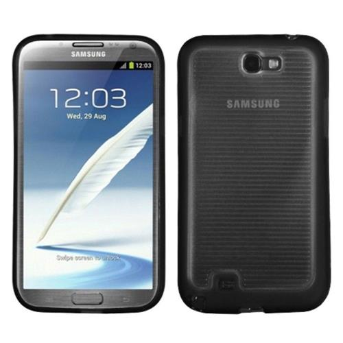 Insten TPU Cover Case For Samsung Galaxy Note II - Clear/Black