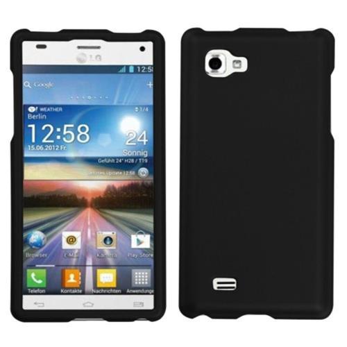 Insten Hard Rubber Cover Case For LG Optimus 4X HD - Black