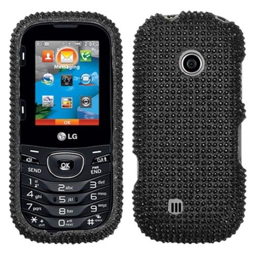 Insten Hard Bling Cover Case For LG VN251 / UN251 / Cosmos 2 - Black