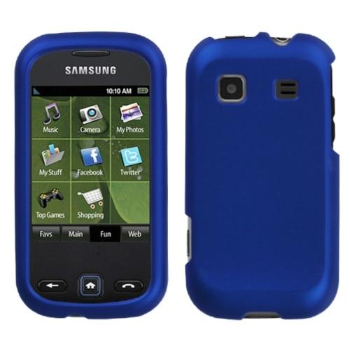 Insten Hard Rubber Coated Case For Samsung Trender - Blue