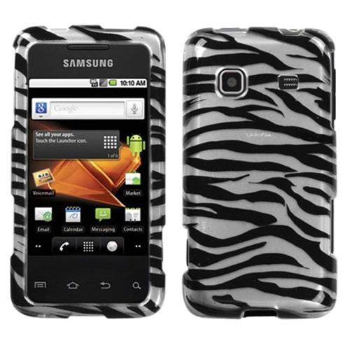 Insten Zebra Hard Cover Case For Samsung Galaxy Prevail - White/Black