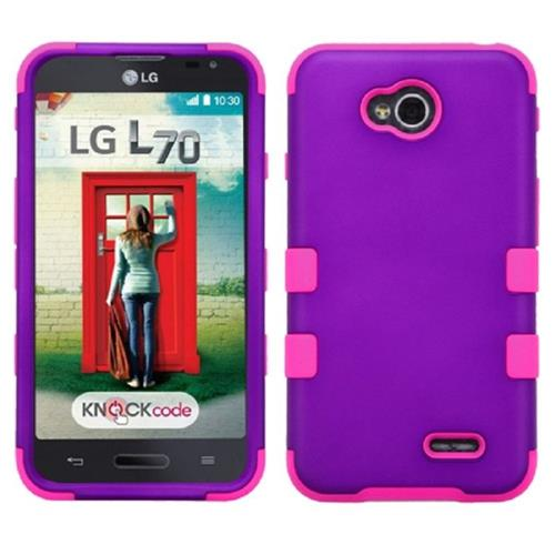 Insten Fitted Soft Shell Case - Hot Pink;Purple