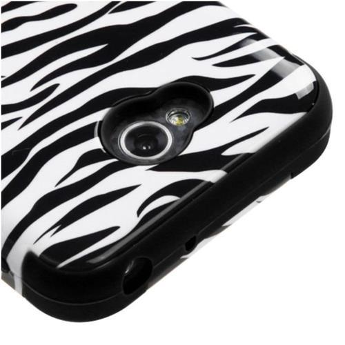Insten Tuff Zebra Hard Cover Case For LG Optimus Exceed 2 VS450PP Verizon/Optimus L70 - White