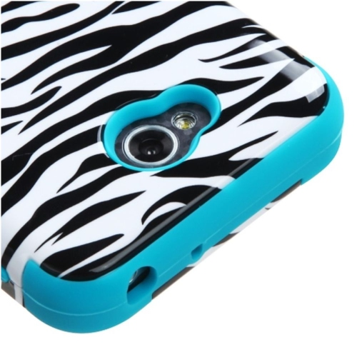 Insten Zebra Hard Silicone Case For LG Optimus Exceed 2 VS450PP Verizon/Optimus L70, White