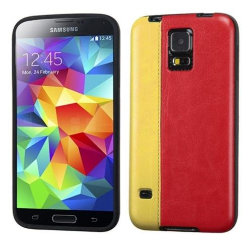 Insten Fitted Hard Shell Case for Samsung Galaxy S5 - Yellow;Red