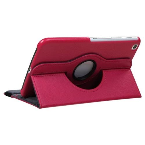 Insten Leather Fabric Cover Case w/stand For Samsung Galaxy Tab 3 8.0 3G/8.0 LTE/8.0 Wifi, Hot Pink