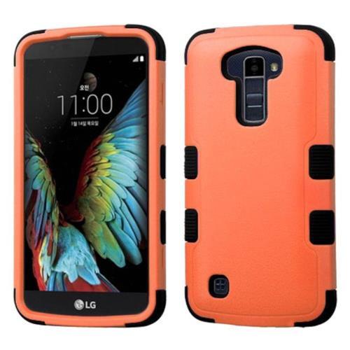 Insten Tuff Hard Hybrid Silicone Cover Case For LG K10 (2016) - Orange/Black
