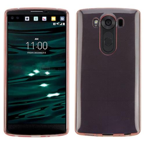 Insten Hard Clear Crystal Case For LG V10 - Rose Gold