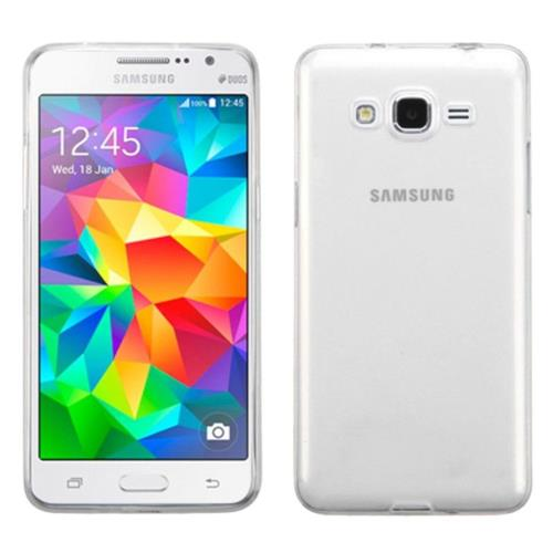 Insten Rubber Case For Samsung Galaxy Grand Prime - Clear