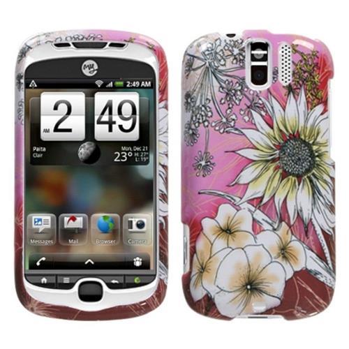 Insten For HTC Espresso / MyTouch 3G Slide T-Mobile Pink Spring Flowers Hard Case Cover