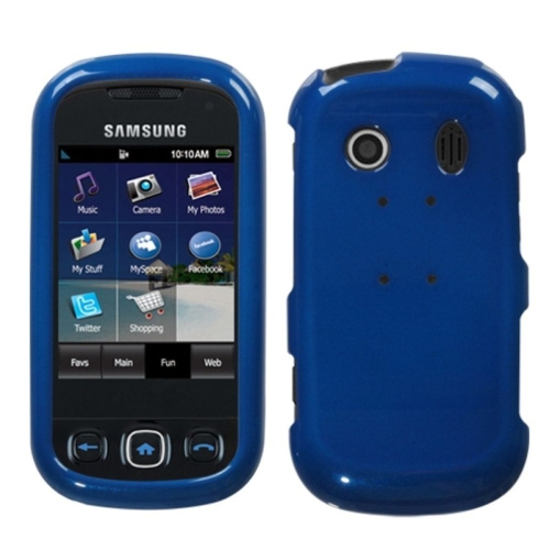 Insten Hard Clear Crystal Case For Samsung Seek - Blue