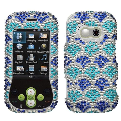 Insten Wavelet Hard Bling Case For LG Neon - Blue/Silver
