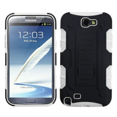 Insten Fitted Soft Shell Case for Samsung Galaxy Note 2 - White;Black