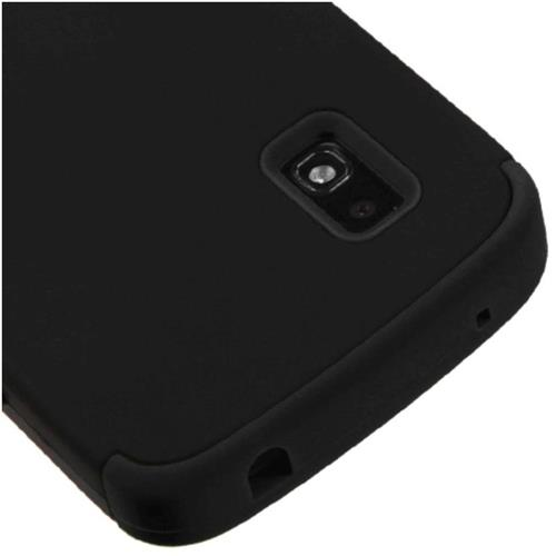 Insten Tuff Hard Hybrid Rubberized Silicone Case For LG Google Nexus 4 E960 - Black