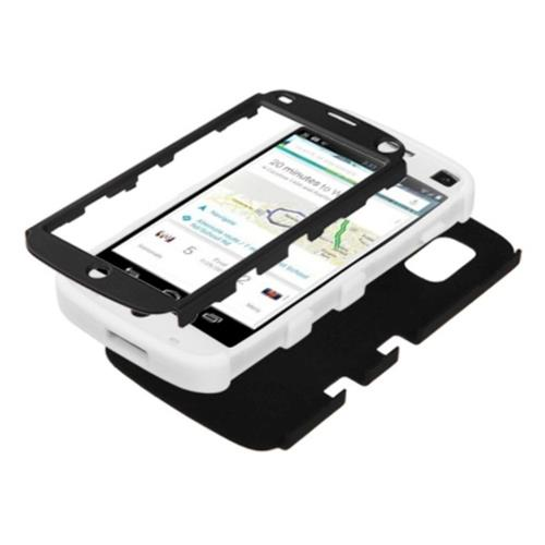 Insten Tuff Hard Hybrid Rubber Coated Silicone Case For LG Google Nexus 4 E960 - Black/White
