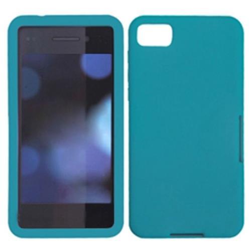 Insten Rubber Cover Case For BlackBerry Z10 - Blue
