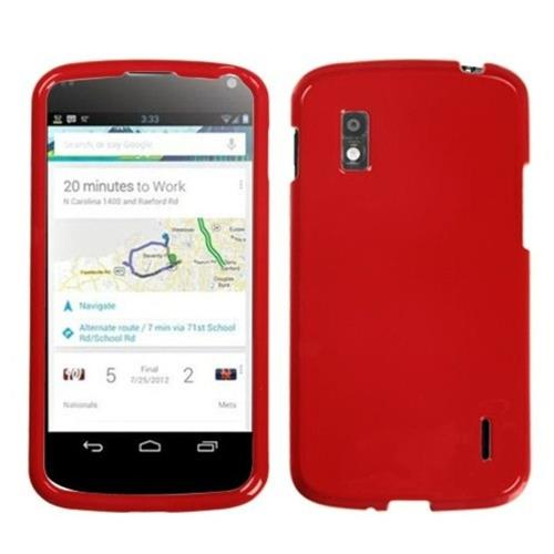 Insten Hard Case For LG Google Nexus 4 E960 - Red
