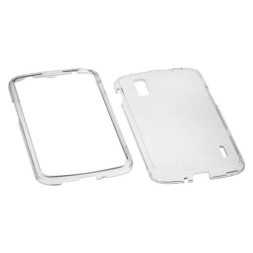 Insten Hard Crystal Cover Case For LG Google Nexus 4 E960 - Clear