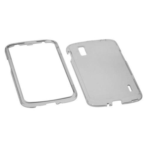 Insten Hard Clear Crystal Case For LG Google Nexus 4 E960 - Smoke