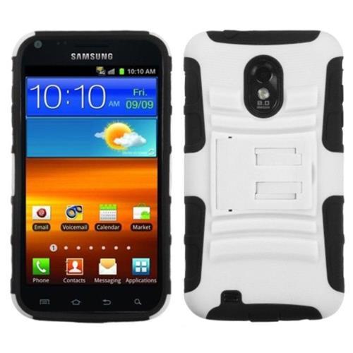 Insten White/Black Stand /Blue Hybrid Stand Hard Case For Samsung Galaxy S2 i9100