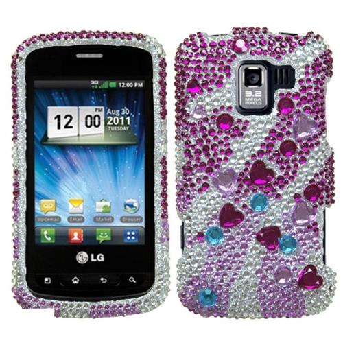Insten For LG Optimus Slider/VM701 Optimus Slider/VS700 Pink Star Cluster Hard Case