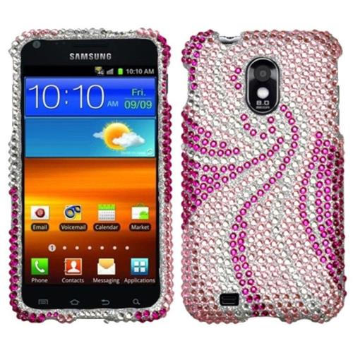 Insten Phoenix Tail Hard Bling Cover Case For Samsung Galaxy S2 Epic 4G Touch D710 - Pink/Hot Pink