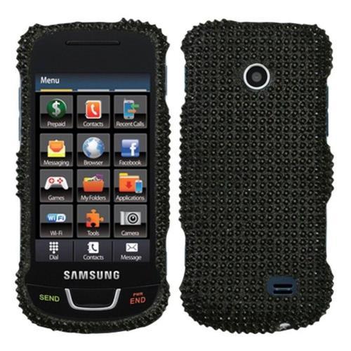 Insten Hard Diamante Cover Case For Samsung T528G - Black