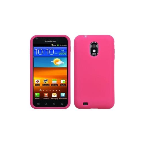 Insten Gel Rubber Cover Case For Samsung Galaxy S2 Epic 4G Touch D710 - Pink