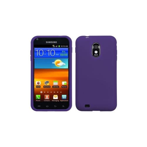 Insten Gel Rubber Cover Case For Samsung Galaxy S2 Epic 4G Touch D710 - Purple
