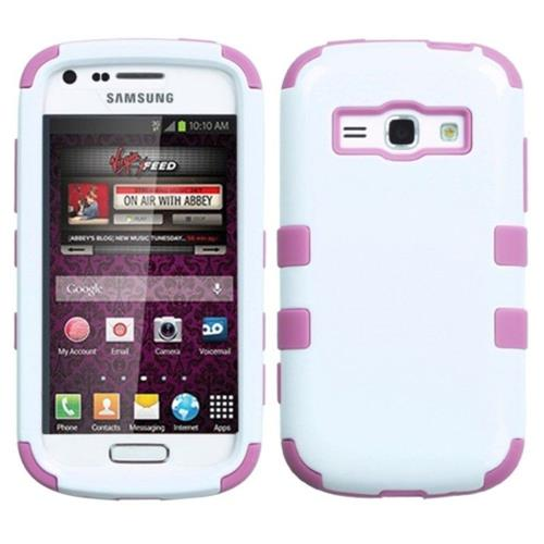 Insten Tuff Hard Dual Layer Rubberized Silicone Cover Case For Samsung Galaxy Ring - White/Pink