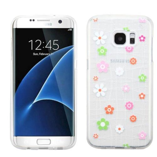 Insten Tiny Blossoms Gel Case For Samsung Galaxy S7 Edge - Colorful