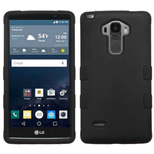 Insten Tuff Hard Hybrid Rubber Coated Silicone Cover Case For LG G Stylo LS770/G Vista 2 - Black