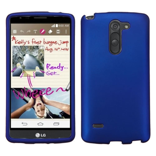 Insten Hard Rubber Cover Case For LG G Stylo LS770 - Blue