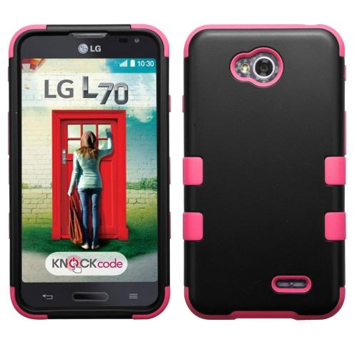 Insten Hard Cover Case For LG Optimus Exceed 2 VS450PP Verizon/Optimus L70/Realm/Ultimate 2, Black