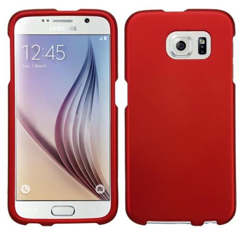 Insten Hard Cover Case For Samsung Galaxy S6 - Red