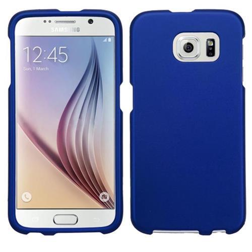Insten Hard Rubber Case For Samsung Galaxy S6 - Blue