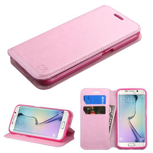 Insten Folio Case for Samsung Galaxy S6 Edge - Pink