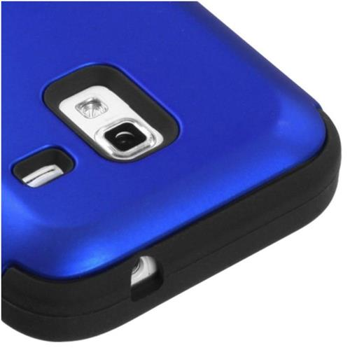 Insten Tuff Hard Hybrid Silicone Case For Samsung Admire 4G - Dark Blue/Black